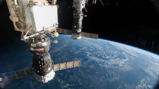 Russia's Soyuz spacecraft delivers three astronauts to International Space Station