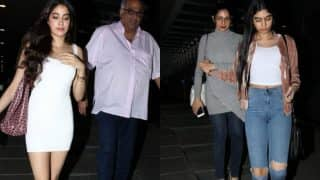 Jhanvi Kapoor and Khushi Kapoor look STUNNING AF at Boney Kapoor's birthday! (see pictures)