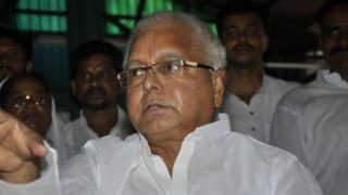 Lalu Prasad Yadav's escort police jeep turns turtle; 7 police men injured, 3 in critical condition