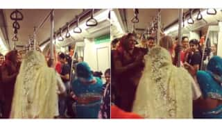 WATCH: Impromptu dance performance by a group of women on Delhi metro!