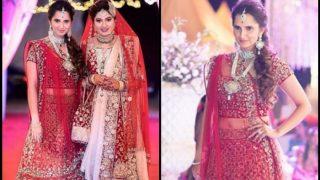 बहन की शादी में दुल्हन की तरह दिखीं सानिया मिर्जा, देखें तस्वीरें