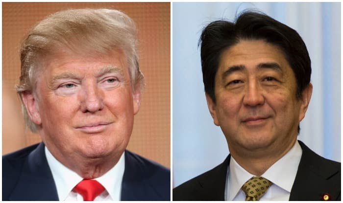 Abe heads for NY for first talks with Trump