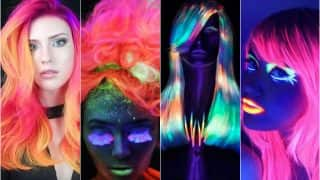 Forget glow sticks, this glow in the dark hair dye trend is sexy AF!