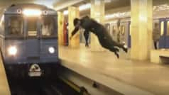 Man jump in front of speeding train watch Shocking video…