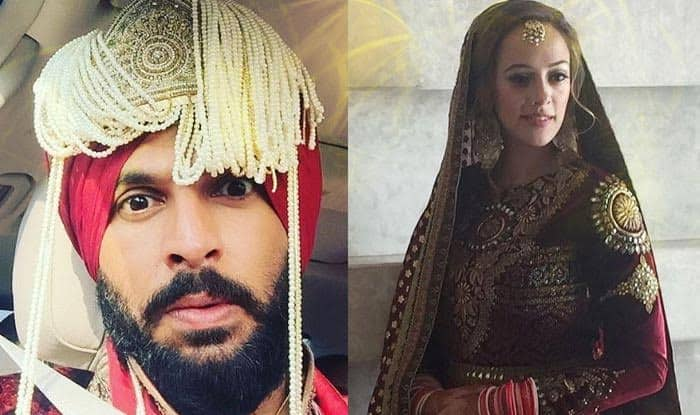 Yuvraj Singh and Hazel Keech latest wedding pictures: The adorable bride and groom's colour coordinated wedding outfits look elegant
