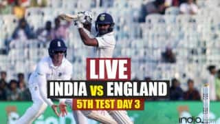 STUMPS IND 391/4, India vs England Live Cricket Score 5th Test Day 3 in Chennai