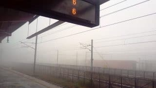 Dense fog in Delhi results in low visibility; trains, flights delayed