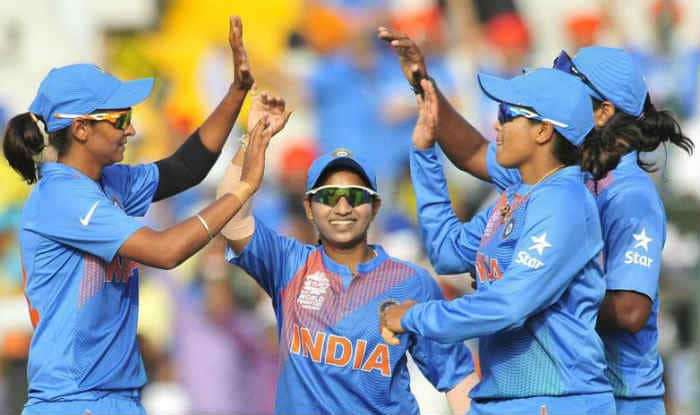 Indian Women cricket team celebrating