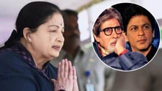 Jayalalithaa no more: Shah Rukh Khan, Amitabh Bachchan express their deepest condolences!
