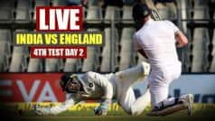 STUMPS | IND 146/1 | India vs England Live Cricket Score 4th Test Day 2 in Mumbai