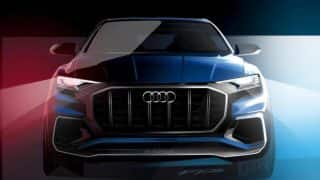 Official Audi Q8 design sketches release before 2017 debut