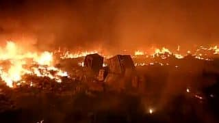 Delhi: Major fire breaks out in Rithala, several shanties gutted