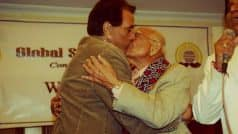 Dharmendra birthday: LOL! The actor's most viral picture shows him kissing Ram Jethmalani!