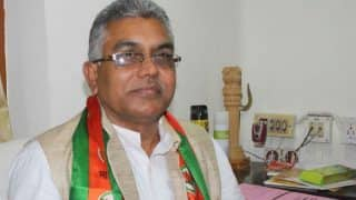 West Bengal: Unidentified Men Throw Stones at BJP Chief Dilip Ghosh's Car in Bankura; Party Blames TMC