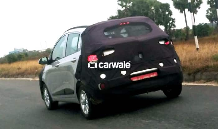 2017 Hyundai Grand i10 Facelift Spied Testing