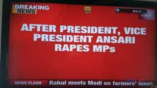 After President, VP 'rapes' MPs? India Today airs shocking 'rape' typo on Live TV! Twitterati has field day poking fun at news channel