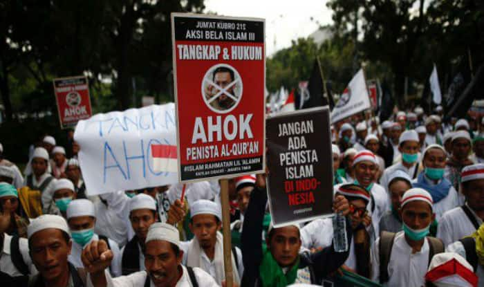 Indonesian Muslims proteste