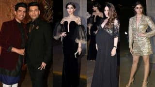 Manish Malhotra's 50th birthday bash photos: Bollywood stars up the style quotient at this gold and velvet affair!