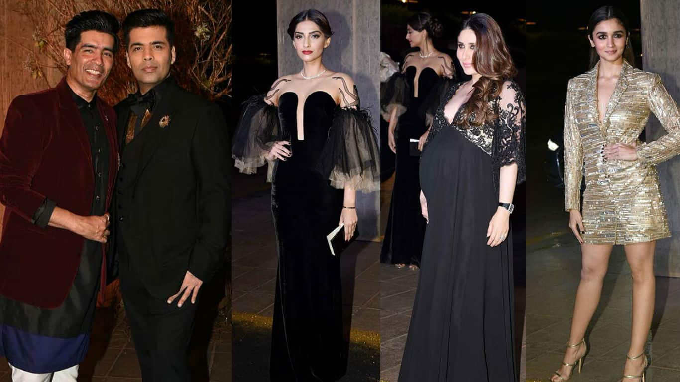 Manish Malhotras 50th Birthday Bash Photos Bollywood Stars Up The Style Quotient At This Gold