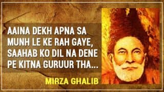 Remembering Mirza Ghalib on his 218th birth anniversary: Collection of top 11 Mirza Ghalib shayaris in Urdu