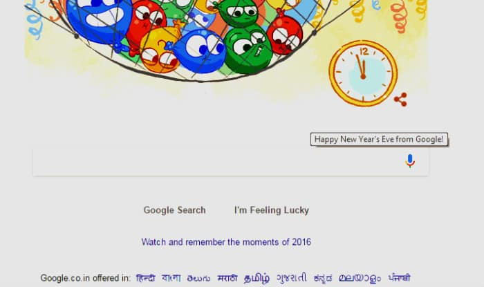 New Years Eve Day Doodle from Google to wish you a Happy New Year ...
