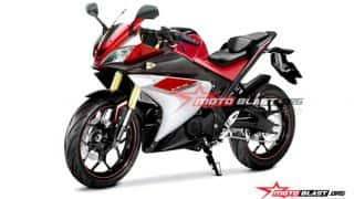Yamaha R15 V3.0 images leaked; features USD suspension and bigger engine