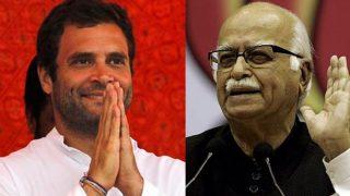 राहुल गांधी: 'आडवाणी जी, अपनी पार्टी के भीतर लोकतांत्रिक मूल्यों के लिए लड़ने पर आपका शुक्रिया।'