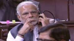 Narendra Modi sits in Rajya Sabha even during adjournment, chats…