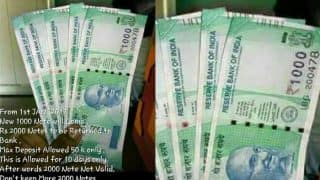 Rs 1000 new note picture goes viral on WhatsApp: Is the green-coloured new Rs 1000 currency note available in bank?
