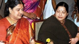 Sasikala Natarajan writes to AIADMK from jail, asks party to celebrate Jayalalithaa's birth anniversary on a grand scale