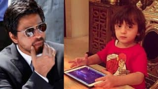 Shah Rukh Khan's son AbRam is a gizmo freak just like him! See new picture of SRK's youngest son