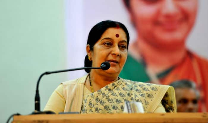 Back from hospital, Sushma Swaraj works from home