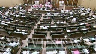 Telangana Budget Session: Congress MLA Attacks Legislative Council Chairman Swamy Gaud Using Microphone During Governor's Speech