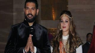 Cricketers congratulate newly married couple Yuvraj Singh and Hazel Keech