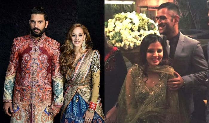 MS Dhoni with wife Sakshi attend Yuvraj Singh-Hazel Keech wedding! This picture should quash rivalry rumours between Indian cricketers