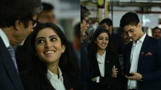 Amitabh Bachchan shares an emotional moment with grandkids, Agstya and Navya Naveli, Pictures go viral on social media