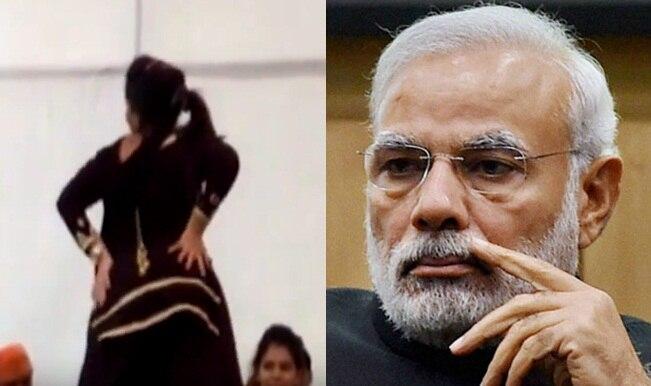 Obscene dance at BJP's parivartan rally in Moradabad