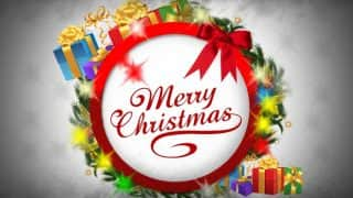 Merry Christmas Wishes in English: 20 Merry Christmas Wishes in English: 20 Best WhatsApp Status, Facebook Messages, Gif Images, DP &SMS to wish Happy Christmas Greetings 2016!