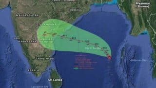Cyclonic storm 'Vardah' moves towards Andhra Pradesh, further intensifies