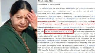 Jayalalithaa declared Dead on Wikipedia! Another hoax, should the web encyclopedia be believed?