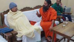 yoga guru baba ramdev meets lalu prasad yadav in patna…