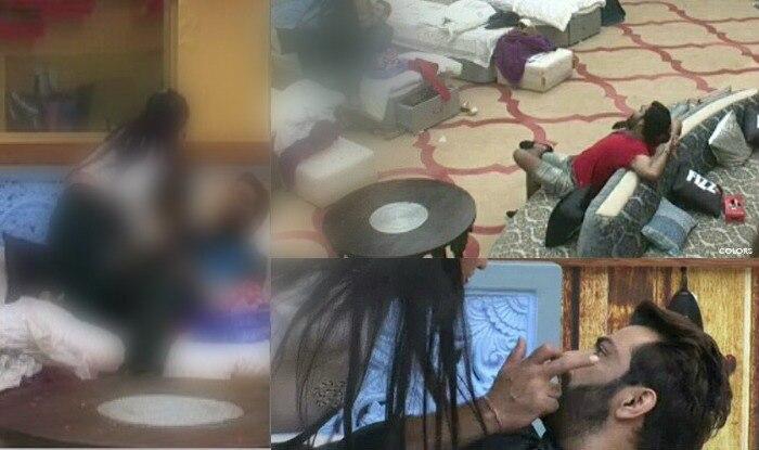 Bigg Boss 10: Manu Punjabi and Monalisa getting intimate infront of Manveer? | हे भगवान! बिग बॉस के घर में मोनालिसा और मनु पंजाबी हुए इंटिमेट… बैठ कर नज़ारा देखते रहे मनवीर गुज्जर