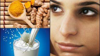 डार्क सर्कल दूर करने के लिए दूध और हल्दी का होममेड फेसपैक