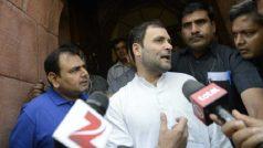 बीजेपी सांसदों ने राहुल गांधी को देख लगाए नारे, कांग्रेस अध्यक्ष बोले- लगाओ और लगाओ, जय हिंद