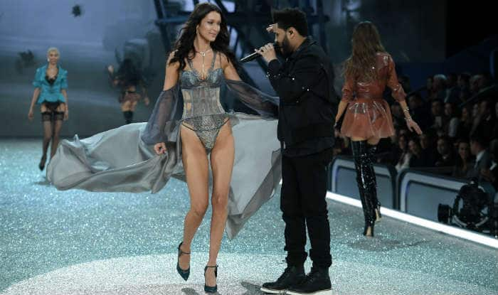 Bella Hadid parties with her ex The Weeknd in Victoria's Secret Fashion Show lingerie