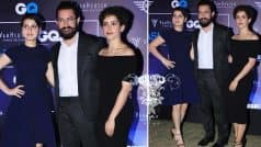 Dangal girls Sanya Malhotra and Fatima Sana Shaikh look chic with arm candy Aamir Khan at Van Heusen and GQ Fashion Nights 2016 (View Pics)
