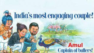 Virat Kohli and Anushka Sharma's fake engagement news explained in funny Amul topical ad!