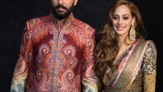 Yuvraj Singh and Hazel Keech's Delhi wedding reception outfits are out of a fairy tale dream!