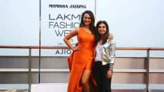 Showstopper Sonakshi Sinha stuns at the Lakme Fashion Week Summer Resort 2017 opening show in sexy tangerine outfit! View pics