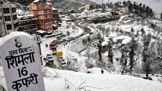 Himachal Pradesh: Shimla turns white with fresh snowfall, temperature dips to 3 Degree Celsius